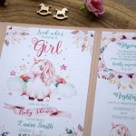 Unicorn Baby Shower Invitations for girls