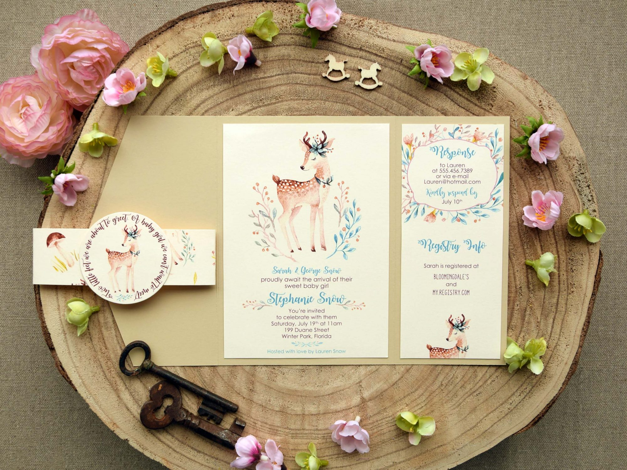Elegant Baby Shower Invitations