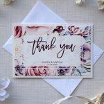 Unique Watercolor Thank You Cards