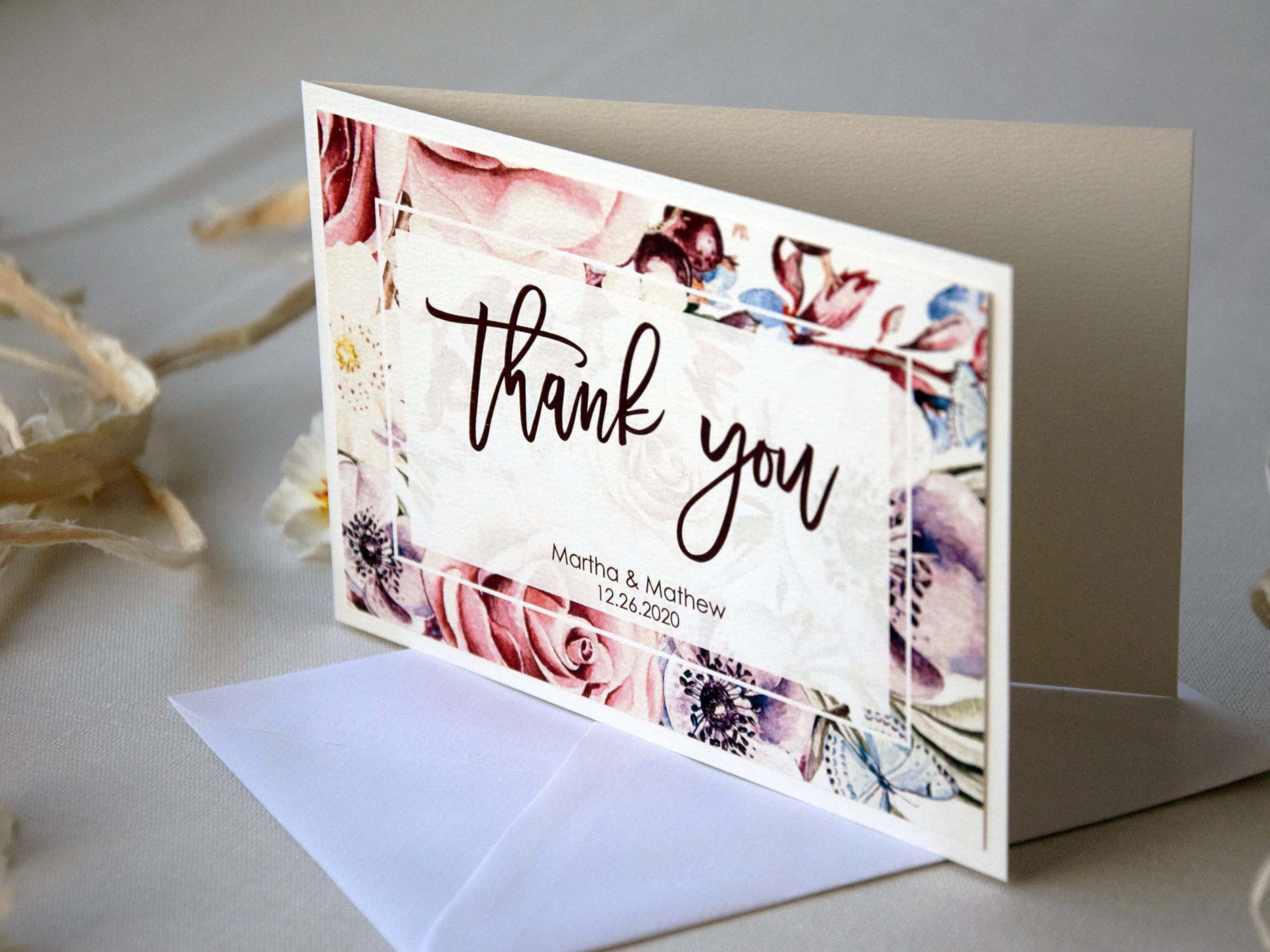 Unique Watercolor Thank You Cards