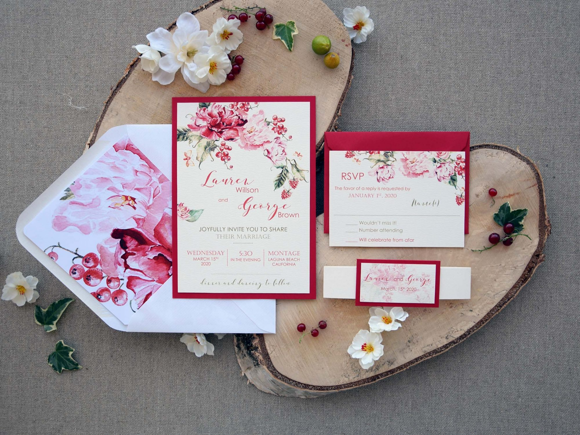 Colorful Customized Wedding Invitations Card
