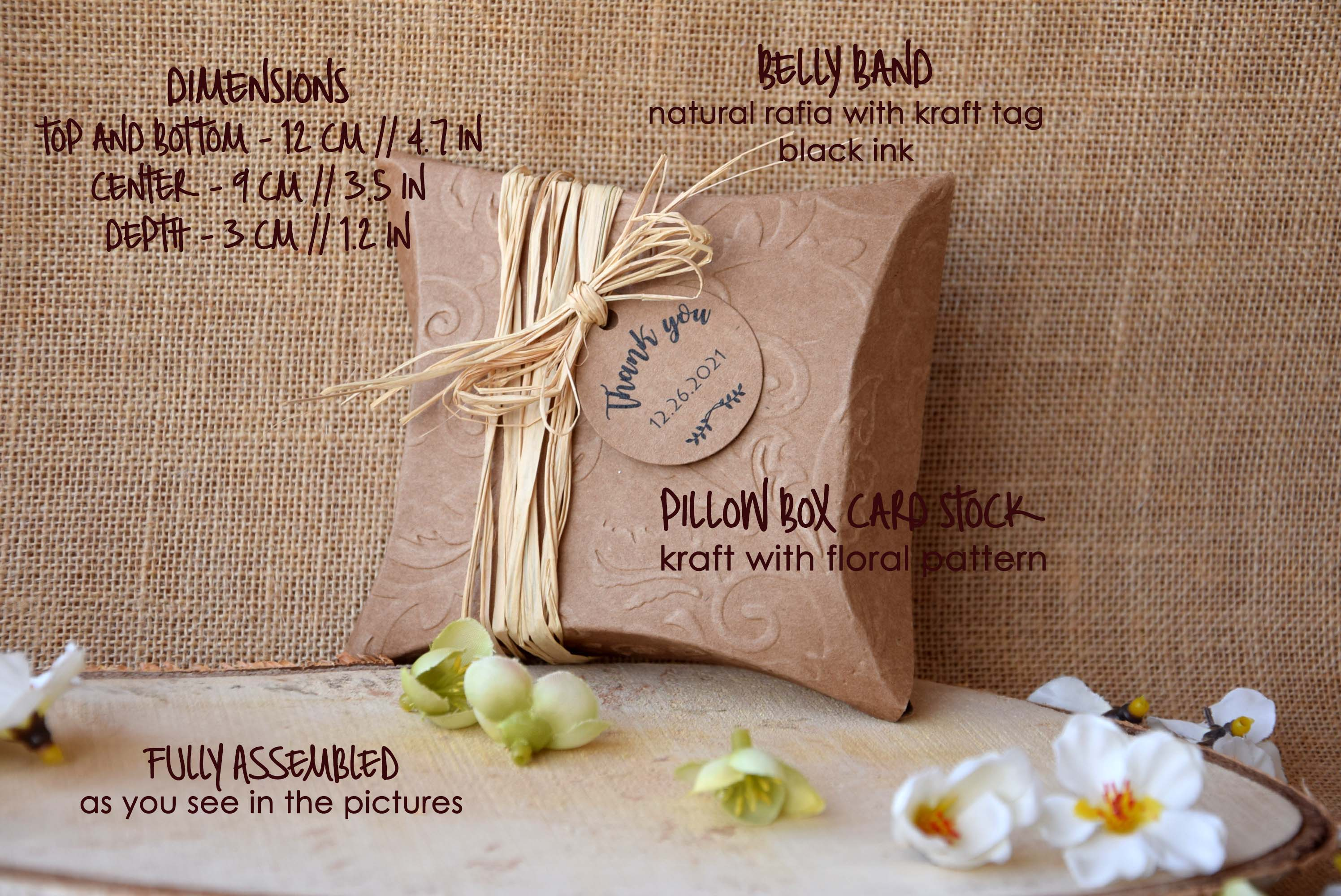 Rustic Wedding Favor Boxes Craft Pillow Boxes Party