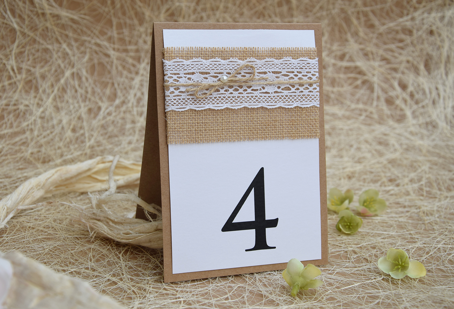 Rustic Lace Table Numbers