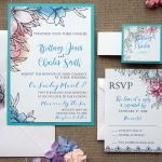 Modern Blue Wedding Invitations