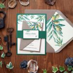 Nature Olive Green Wedding Invitations