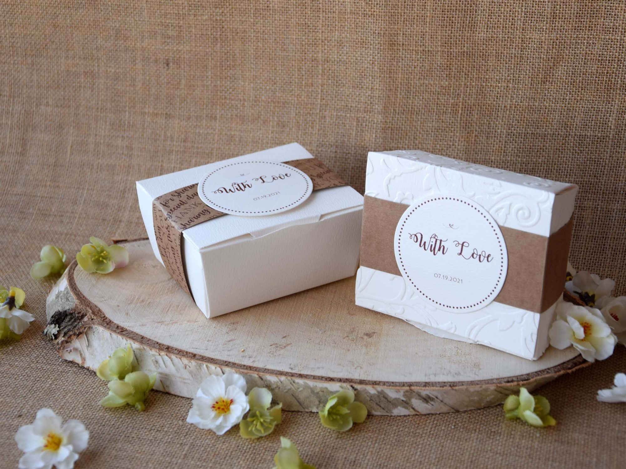 Square Elegant Party Favor Boxes