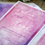 Pink Watercolor Wedding Invitations