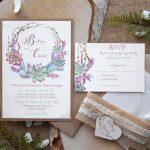 Garden Succulents Wedding Invitations