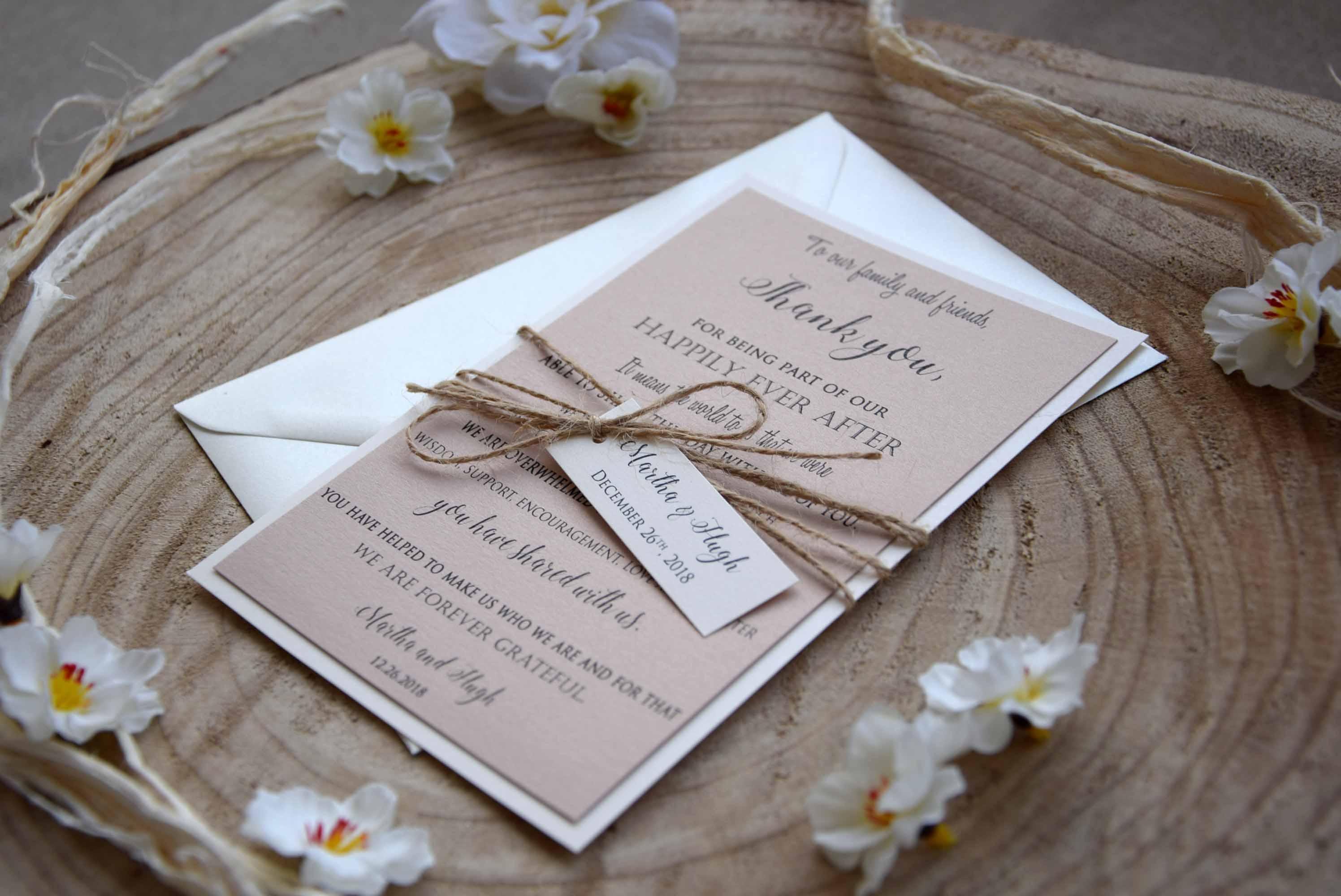 Elegant Wedding Thank You Cards