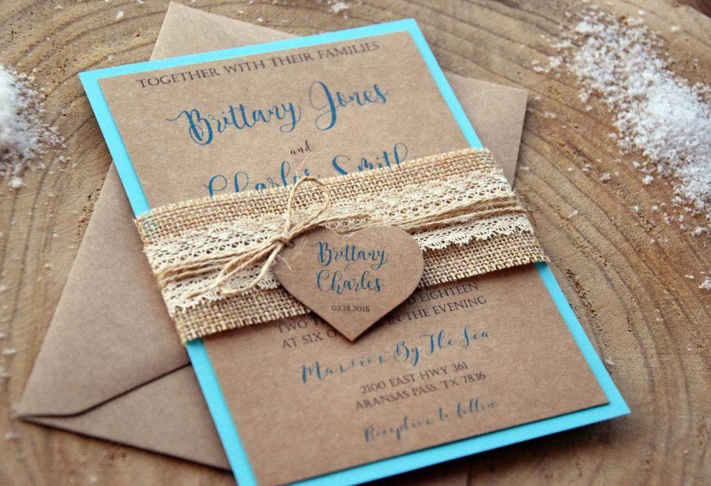 Turquoise Wedding Invitations