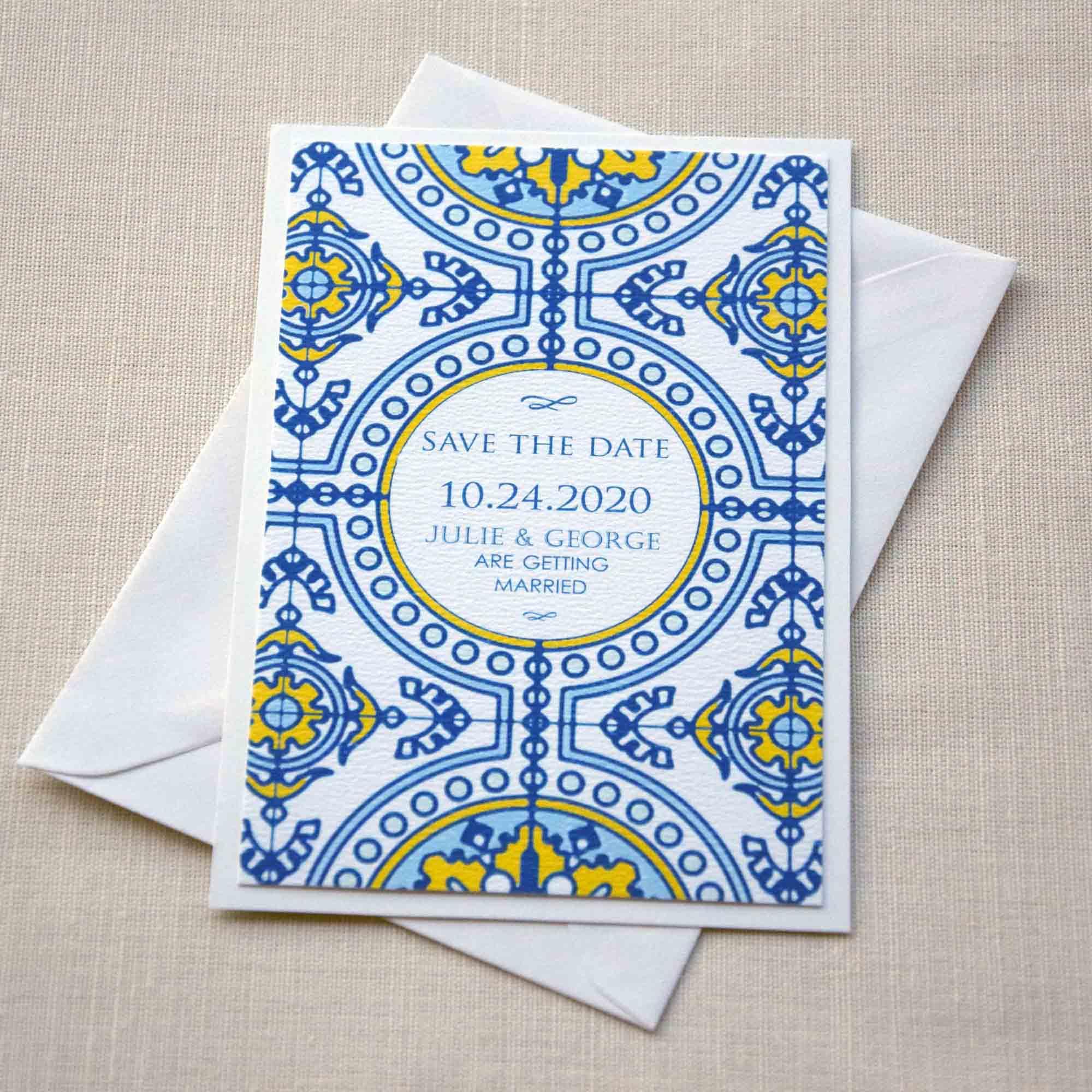 Tile Wedding Save the Dates