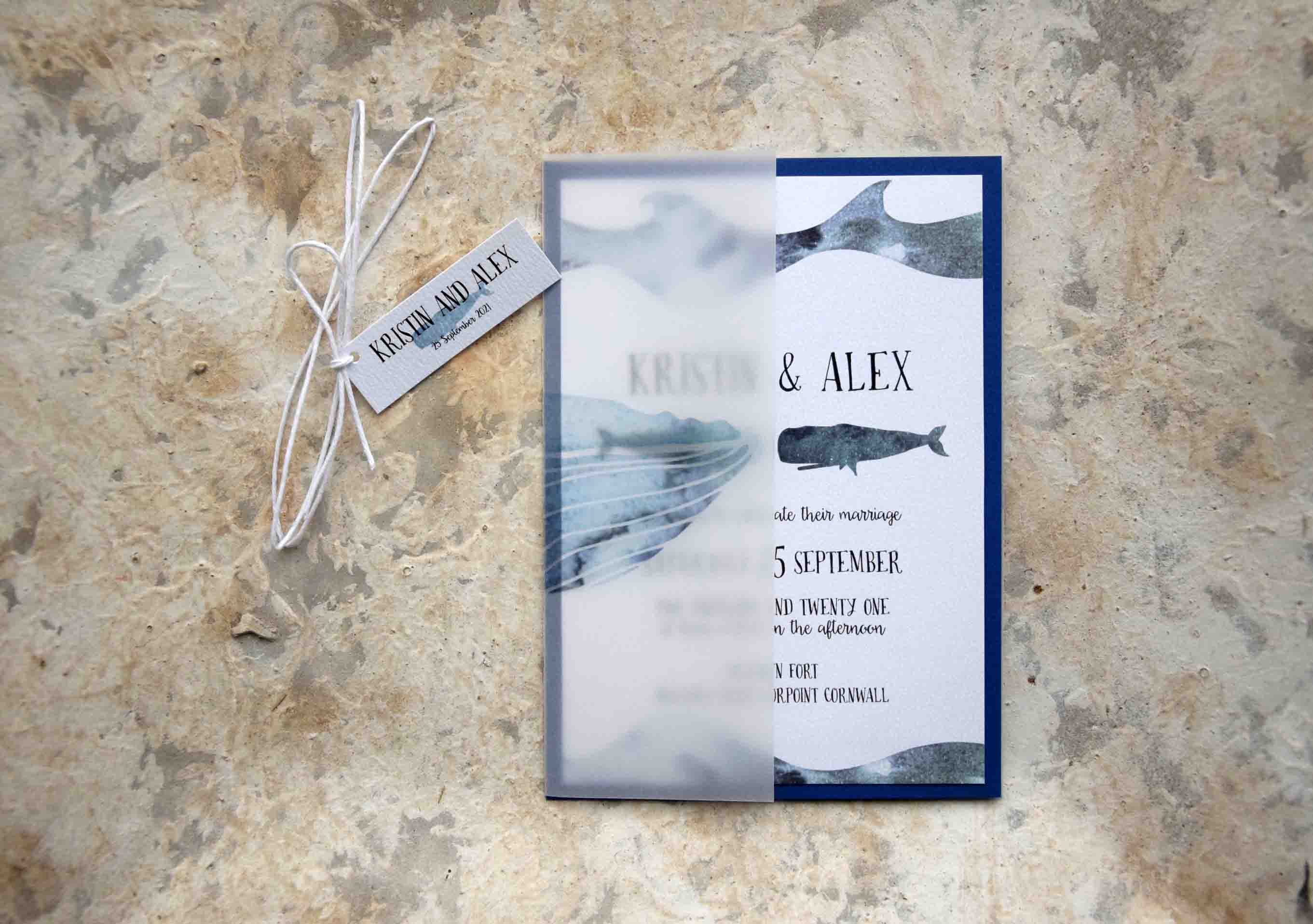 Whales Nautical Wedding Invitations