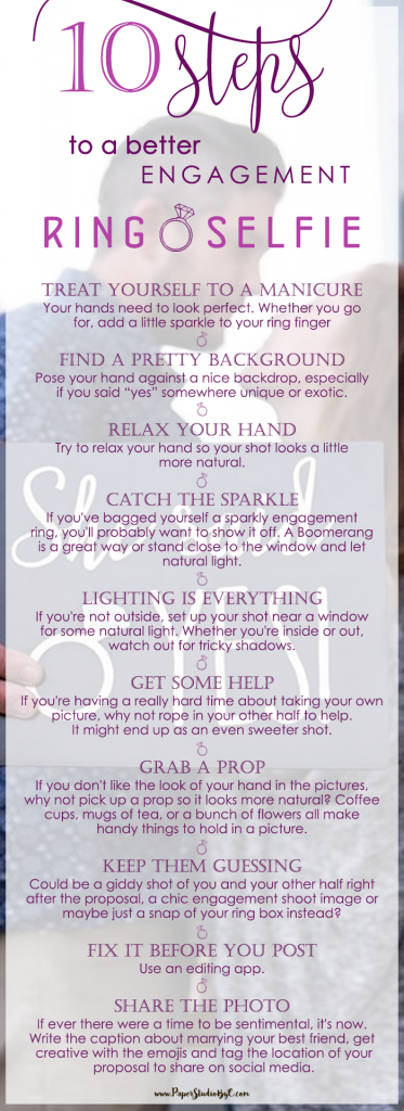 10 Steps to a better Engagement Ring Selfie // Ring Selfie // Engagement Ring Selfie // How to get a better Ring Selfie // Engagement Selfie Ring