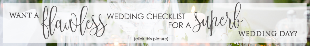 Flawless wedding checklist