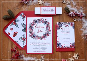 Christmas Wedding Invitation