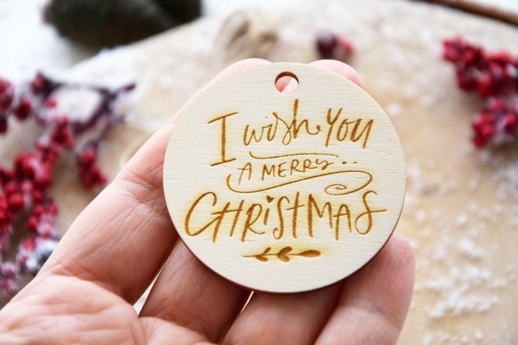 I Wish You A Merry Christmas Tag