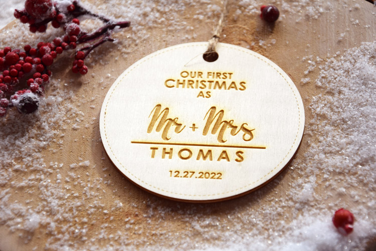 First Christmas Married - Christmas Tree Decoration