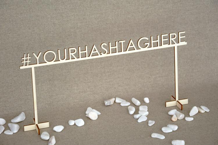 Personalized Custom Hashtag Sign