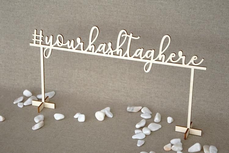 Personalized Hashtag Sign - Script font