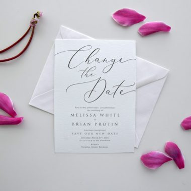 Change the Date Wedding Card