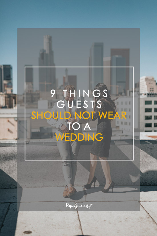 9 Things Guests Should Not Wear to a Wedding